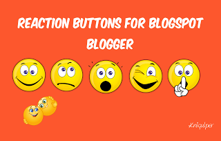 Reaction Buttons for Blogspot Blogger