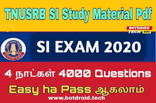 tnusrb 2020 SI exam study material in tamil