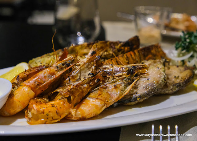 grilled seafood in Medley Pullman Dubai