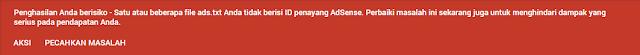 Solusi Mudah Untuk Menyeselasikan Permasalahan Ads.txt Pada Google AdSense