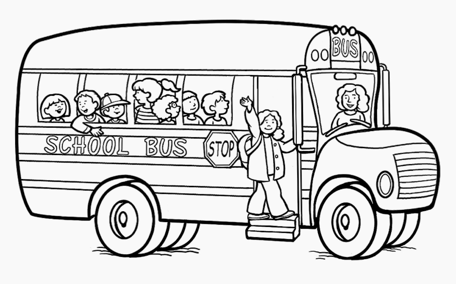 School Bus Coloring Sheet Free