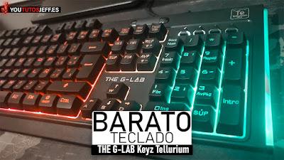 Teclado Gaming Barato, THE G-LAB Keyz Tellurium Review Español