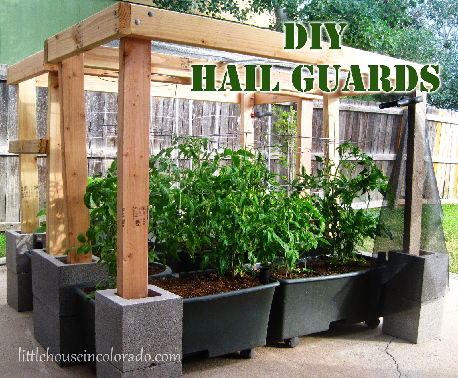 Little House In Colorado: DIY Hail Protection For The Garden