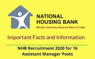 NHB Recruitment 2021 for 16 Assistant Manager Posts