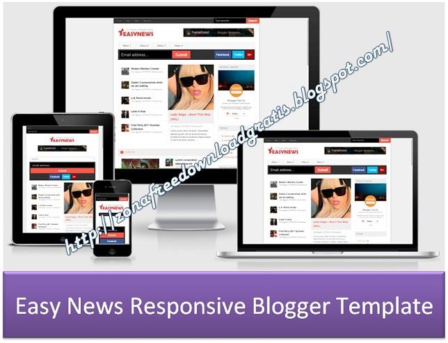 Easy News Responsive Blogger Template
