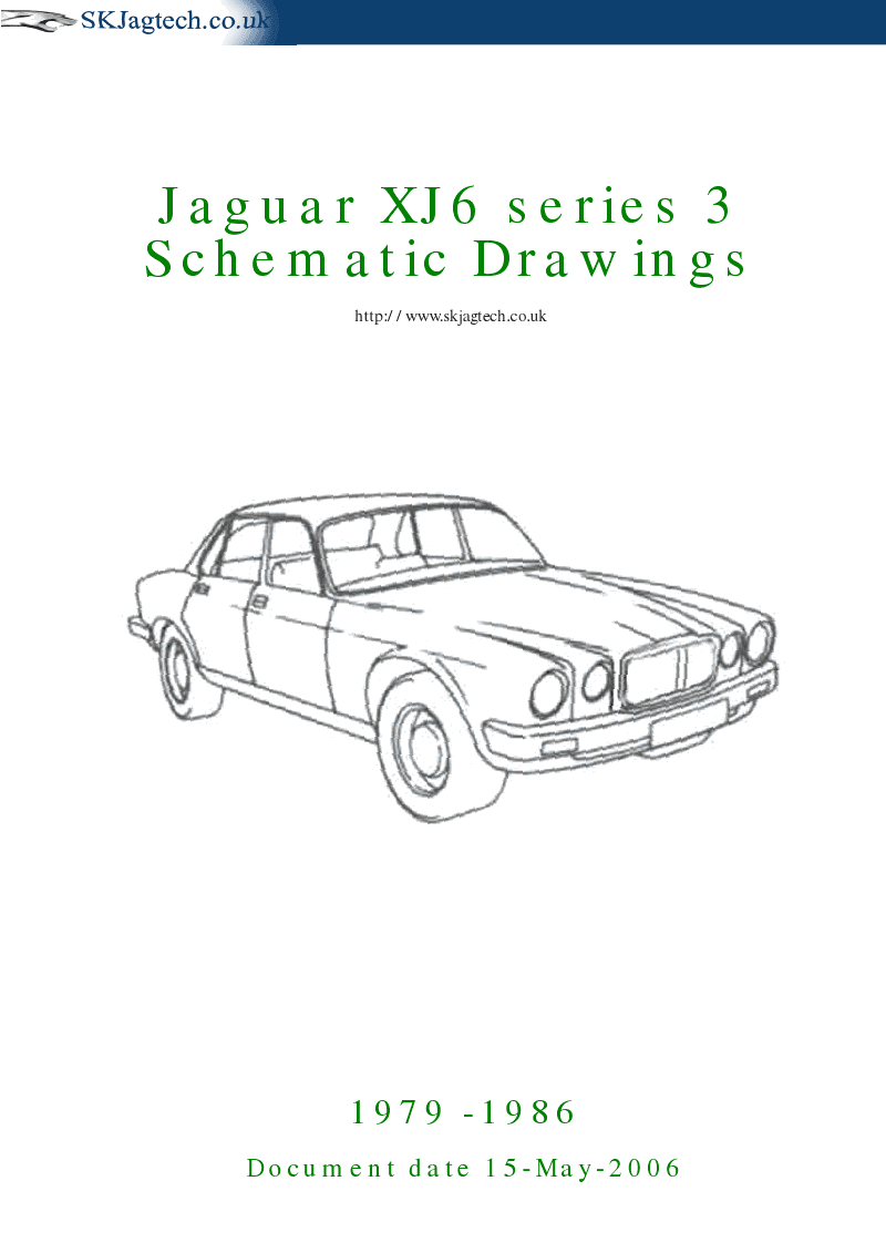 Schematic Drawings Jaguar XJ6 series 3 | User Guide