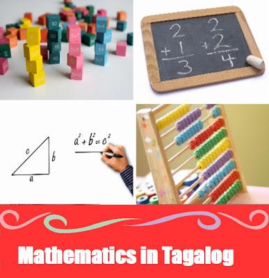 Mathematics Word List in Tagalog