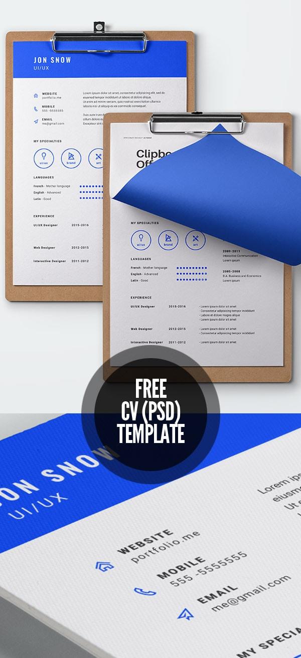 Template Resume / CV Terbaru 2017 - Free CV Template