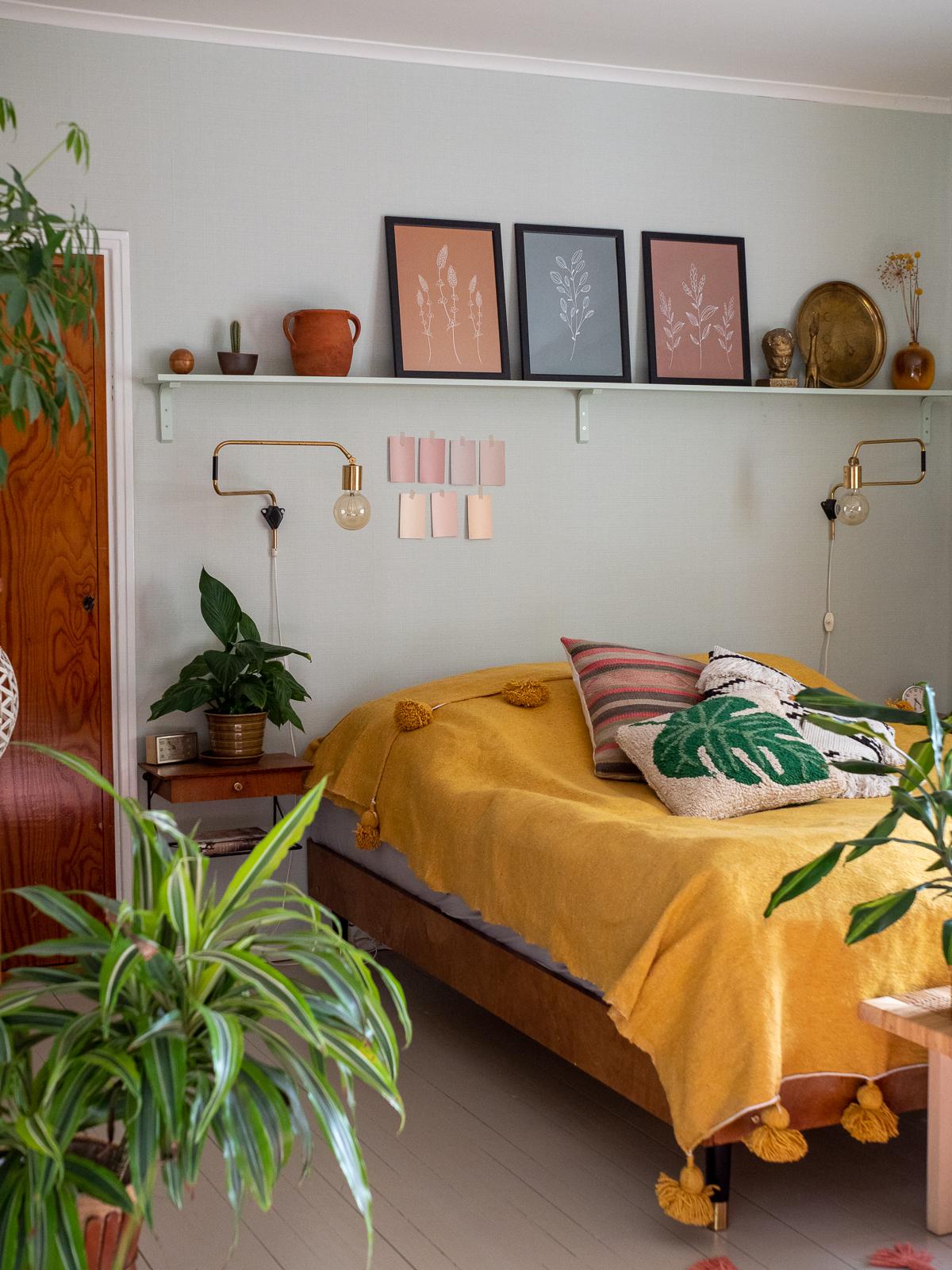 täydellinen seinien sävy makuuhuoneeseen