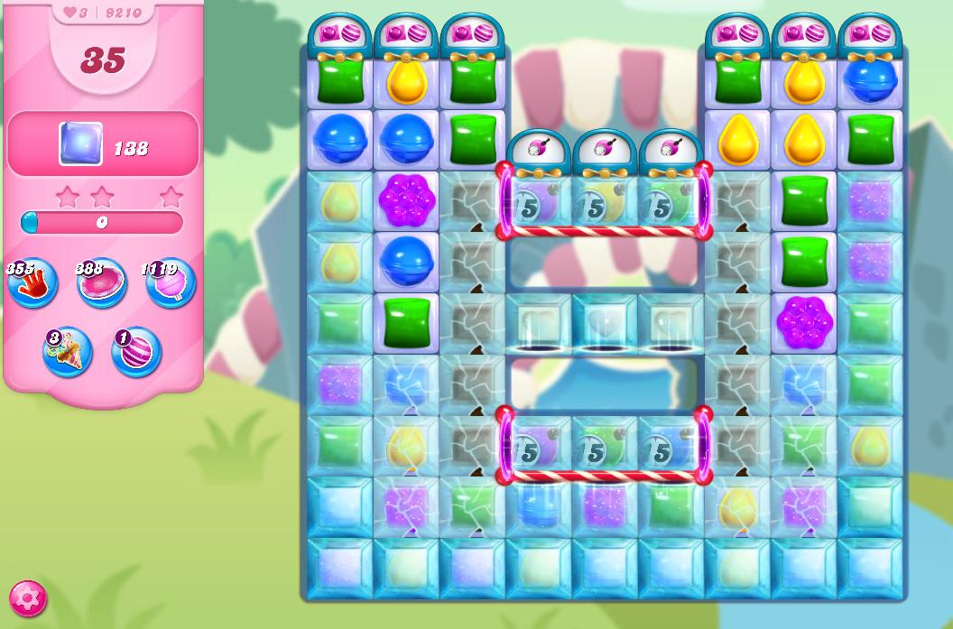 Candy Crush Saga level 9210