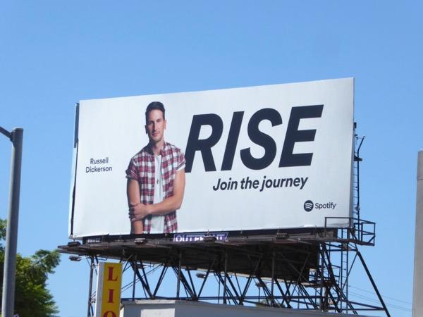 Russell Dickerson Rise Spotify billboard