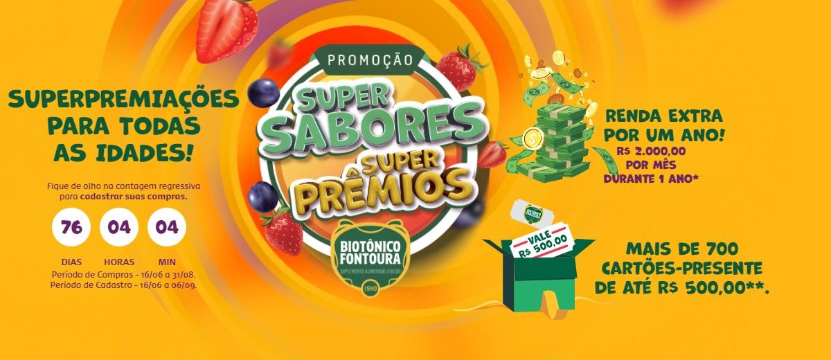Promoção Biotônico Fontoura Super Sabores Super Prêmios