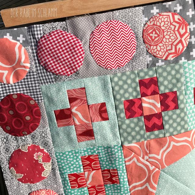 Quilt, Patchwork, Medaillon Quilt, Nähen, Sewing