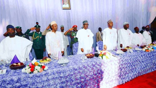 Buhari, Saraki, Osinbajo, Atiku At Zahra Buhari And Ahmed Indimi's Wedding