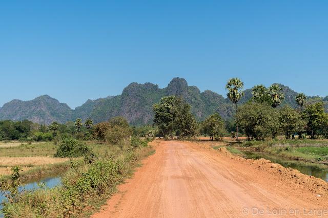 Route vers Sadan Cave - Région de Hpa An - Myanmar Birmanie