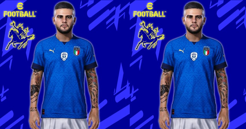 Italy Home Kit 21-22 For eFootball PES 2021
