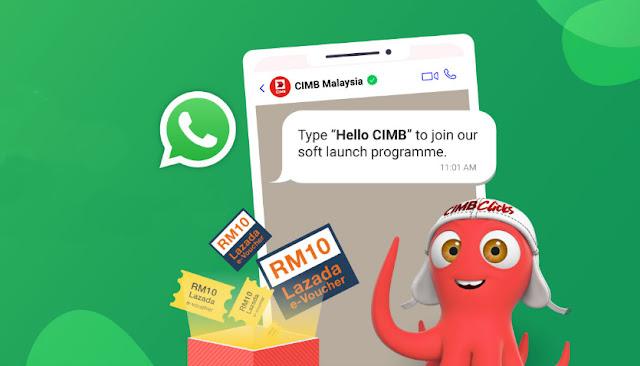 Kini Anda Boleh Whatsapp Terus Kepada CIMB