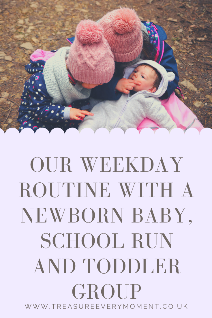 Our Week Day Routine with a Newborn Baby, School Run and Toddler Group