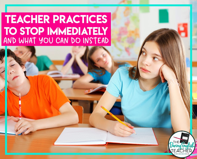 Teaching Practices To Stop Right Now And What You Can Do Instead
