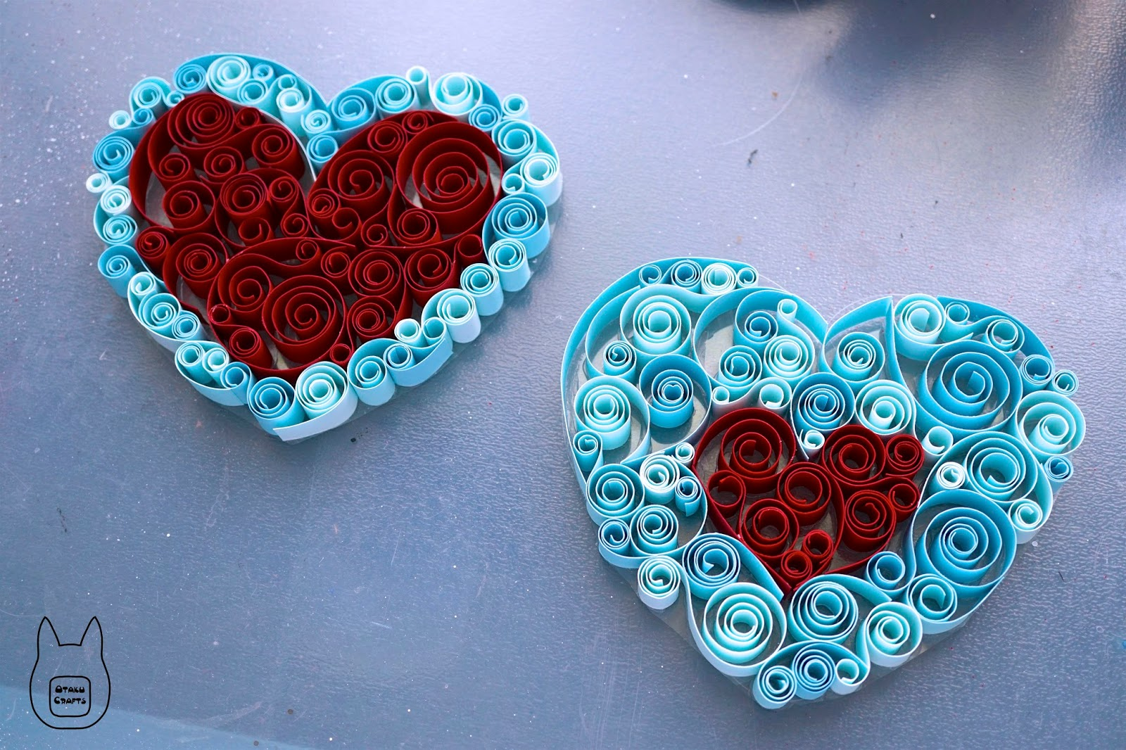 Otaku crafts zelda heart container and heart piece paper for Quilling paper art
