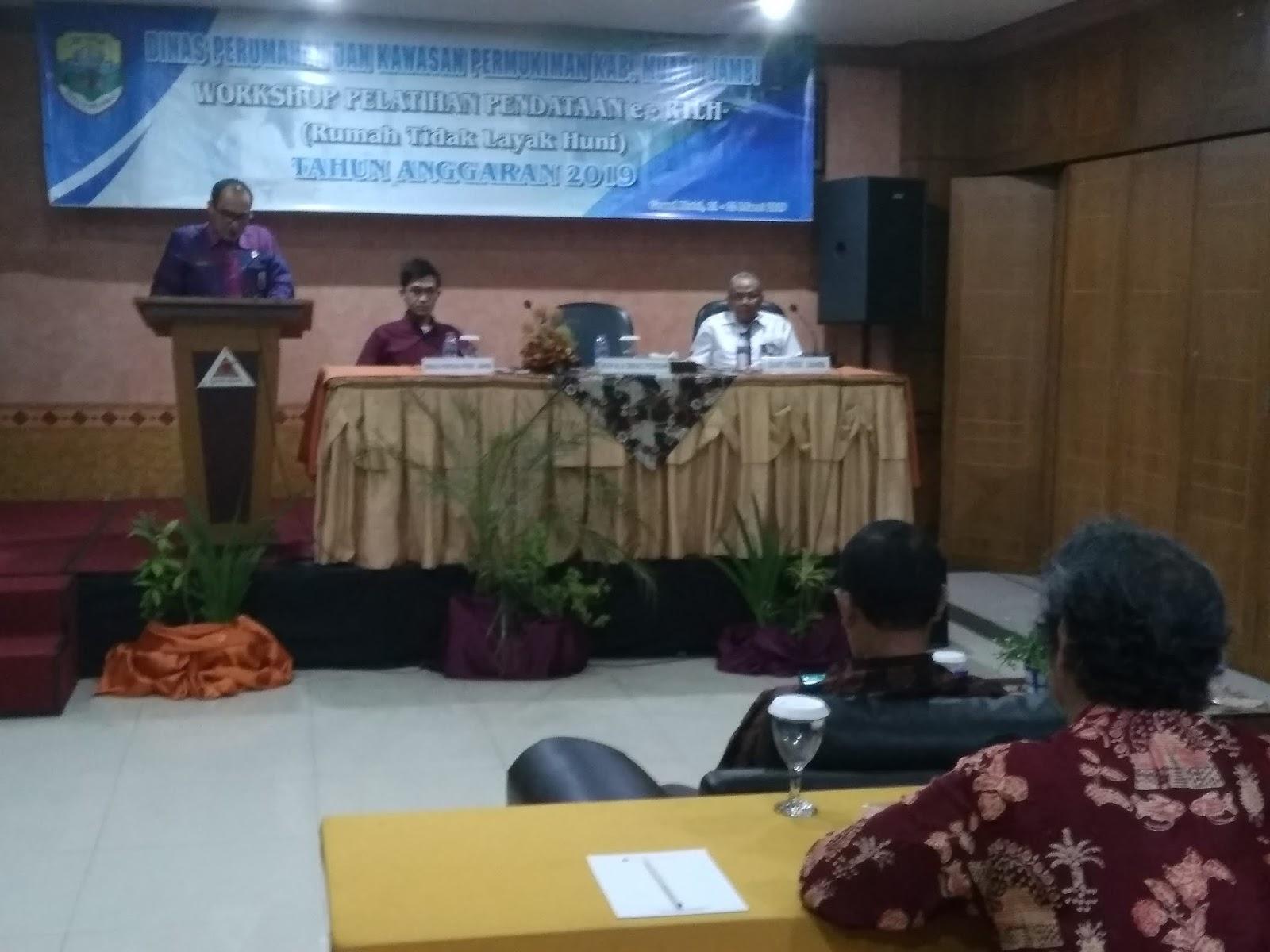 Kadis Perkim Muaro Jambi Buka Secara Resmi Workshop Pelatihan Pendataan E-RTLH