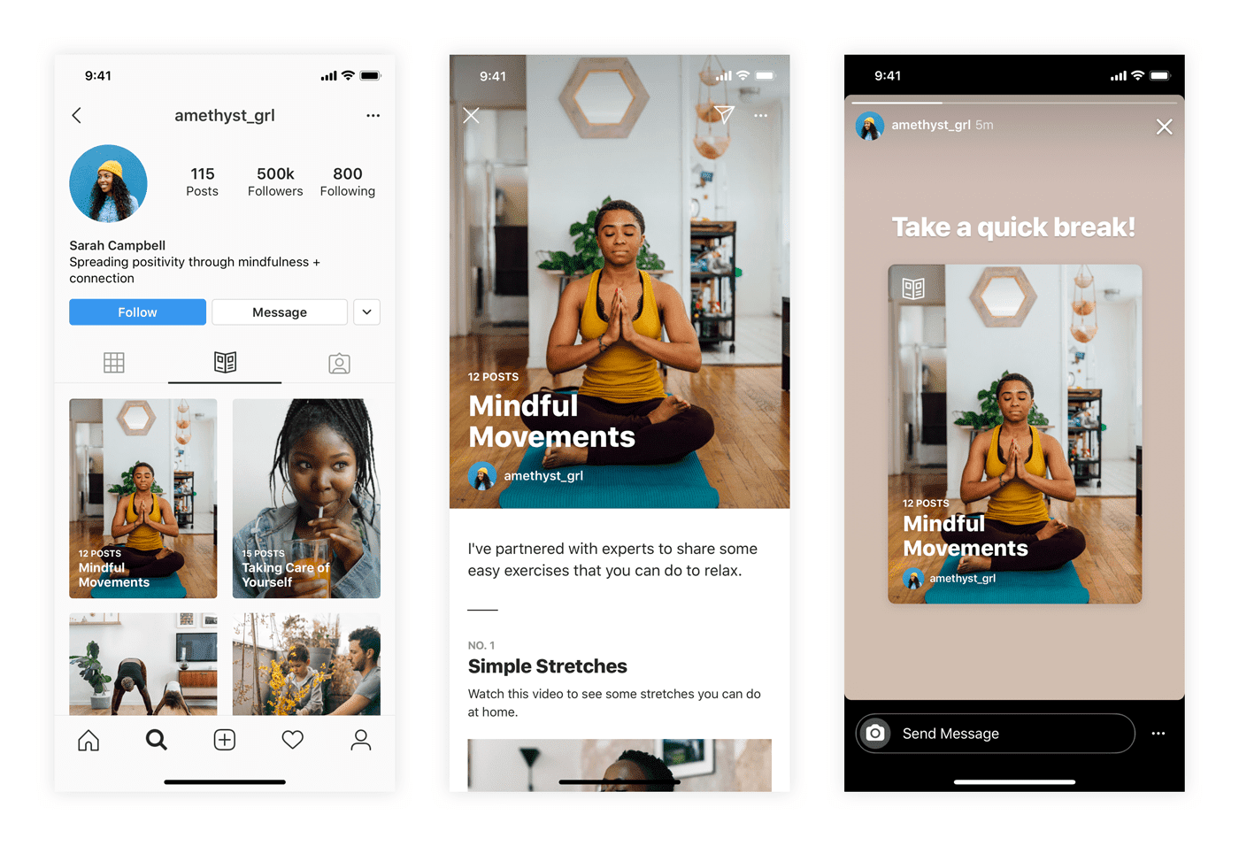 Consigli per il benessere, Instagram introduce Guide