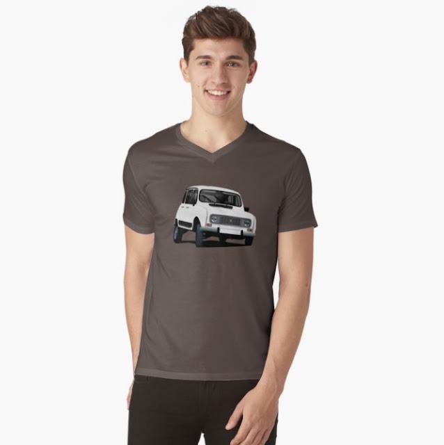 Kurvaava Renault 4 paita