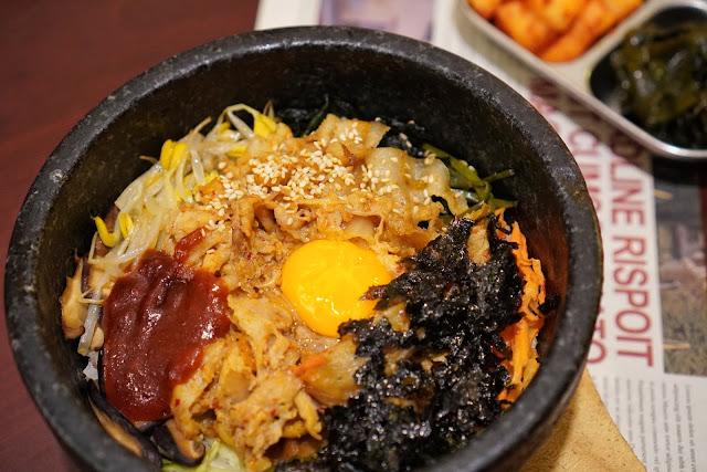 台南安平區美食【瑪西達韓式料理】石鍋拌飯(豬)
