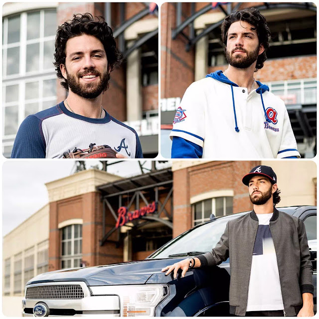 Dansby Swanson Curly Comb Over
