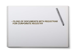 FILING OF DOCUMENTS WITH REGISTRAR FOR CORPORATE REGISTRY
