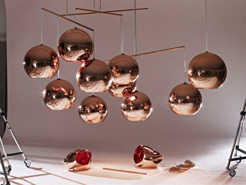 10 lámparas clásicas del diseño industrial: copper lamp, tom dixon