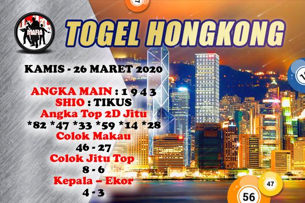 Prediksi HK Malam Ini Kamis 26 Maret 2020 - Prediksi Mafia