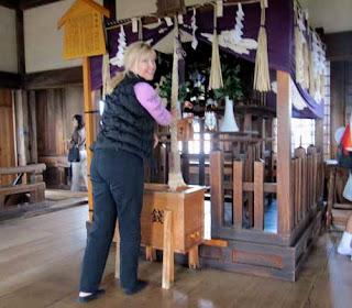 Pat Ringing Bell Himeji Castle Japan