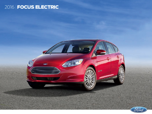 Downloadable 2016 Ford Focus Electric Brochure
