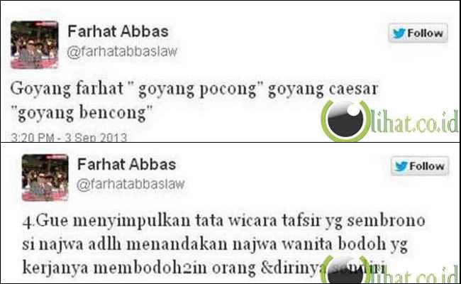 5 Seleb ini Korban dari Kicauan Farhat Abbas di Twitter