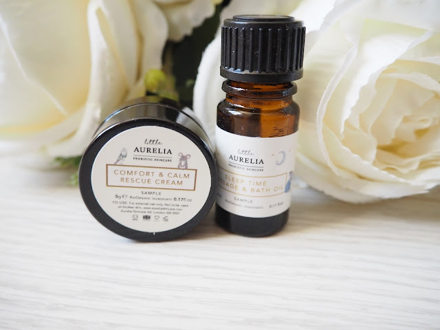 Little Aurelia Comfort and Calm Rescue cream and Sleep Time Bath and Massage Oil