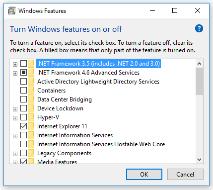 Mengatasi Gagal Install Net Framework 3.5 windows 10