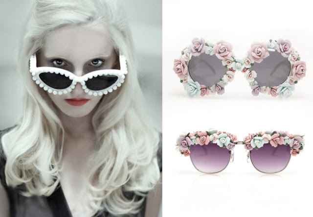 customize sunglasses, pearl sunglasses, mercura sunglasses, crystal sunglasses, flower sunglasses, sunglasses diy, diy, 10 ways to customize sunglasses, 10 summer accessories