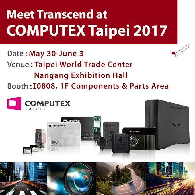 Transcend to Showcase New Products at COMPUTEX 2017