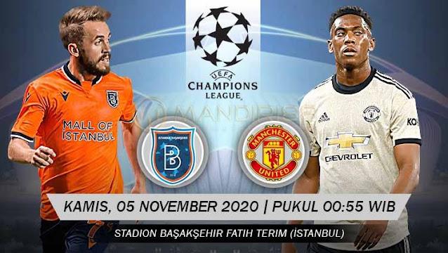 Prediksi Istanbul Basaksehir Vs Manchester United, Kamis 05 November 2020 Pukul 00.55 WIB @ SCTV
