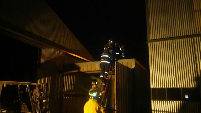 Incendio en una maderera en Monte Maíz
