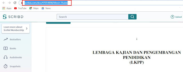 [100% Work] Cara Download File di Scribd Tanpa Login