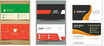 Aplikasi Pembuat Kartu Nama - Lenscard -  Bussines Card Maker