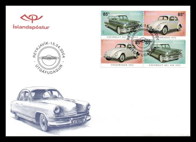 Volkswagen Beetle Iceland stamp
