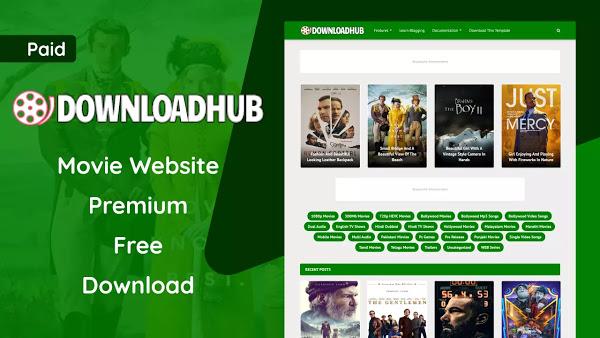 Download Hub Premium Blogger Template Free Download - DownloadHub v1.0 Movie Blogger Template
