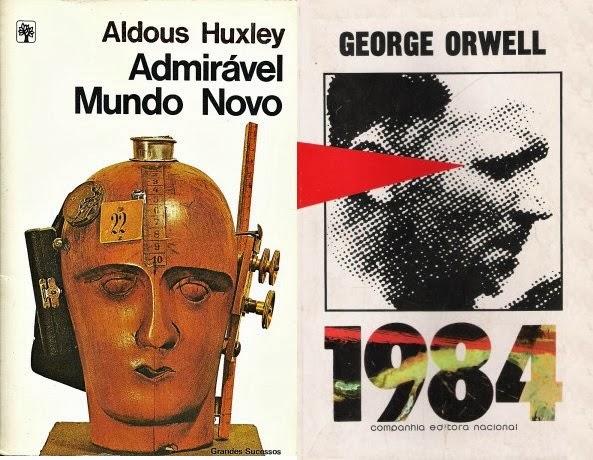 Resultado de imagem para 1984 e admirável mundo novo