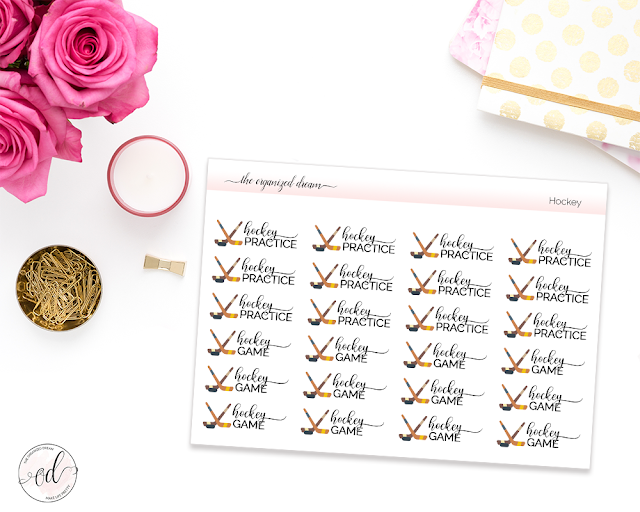 Sports Planner Icon Stickers- Stay organized and on top of your favorite sport or your child's schedule with these functional sports stickers!    #plannergirl #planneraddict #sportsstickers #etsy