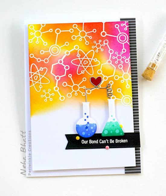 Laina Lamb Design Undeniable Chemistry stamp set and Chemistry Set Die-namics  - Neha Bhatt #mftstamps