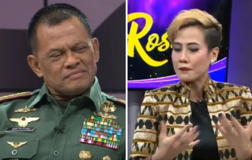 Panglima TNI Jenderal Gatot Nurmantyo dan Rosi