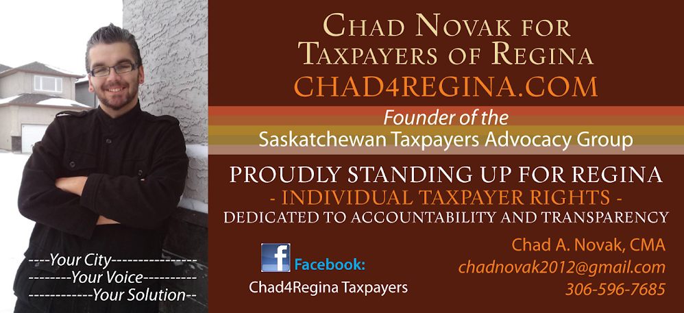 Chad Novak for Taxpayers of Regina